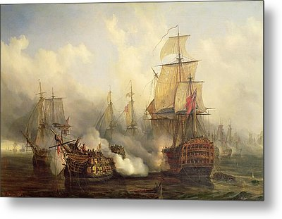 The Redoutable At Trafalgar Metal Print by Auguste Etienne Francois Mayer