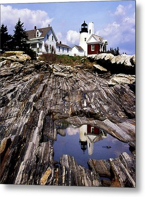 The Reflection At Pemaquid Metal Print by Skip Willits