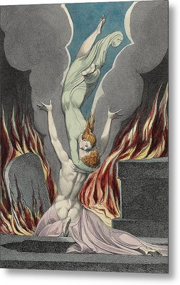 The Reunion Of The Soul And The Body Metal Print by Sir William Blake
