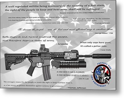 The Right To Bear Arms Metal Print by Daniel Hagerman