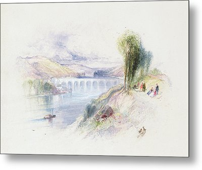 The River Schuykill Metal Print by Thomas Moran
