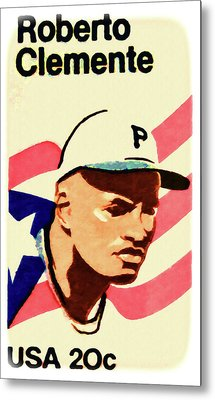 The Roberto Clemente  Metal Print by Lanjee Chee