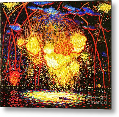 The Rocket Metal Print by Pg Reproductions