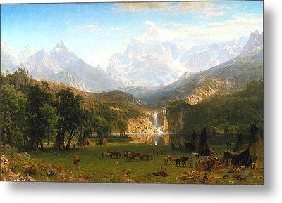 The Rocky Mountains, Lander's Peak, C. 1863 Metal Print by Albert Bierstadt