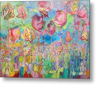 The Rose Garden, Love Wins Metal Print by Kimberly Santini