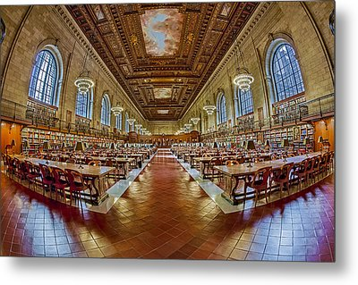 The Rose Main Reading Room Nypl Metal Print by Susan Candelario