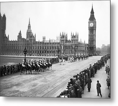 The Royal Procession Metal Print by Underwood Archives