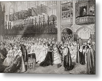 The Royal Wedding Between Albert Metal Print by Vintage Design Pics