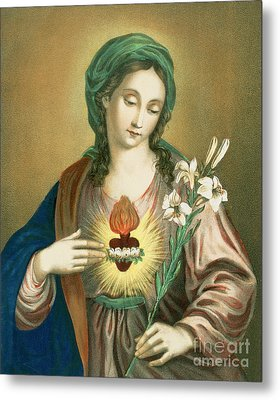 The Sacred Heart Of Mary Metal Print by German School