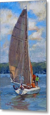 The Sailing Lesson Metal Print by Donna Shortt
