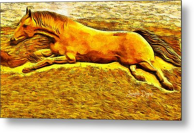 The Sand Horse Metal Print by Leonardo Digenio