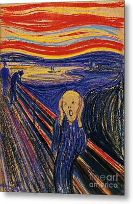 The Scream Metal Print by Pg Reproductions