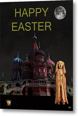 The Scream World Tour Moscow Happy Easter Metal Print by Eric Kempson