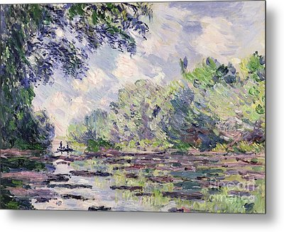 The Seine At Giverny Metal Print by Claude Monet