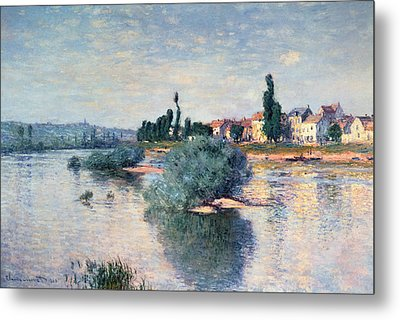 The Seine At Lavacourt Metal Print by Claude Monet
