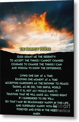 The Serenity Prayer Metal Print by Celestial Images