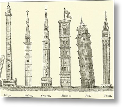The Seven Great Towers Metal Print by English School