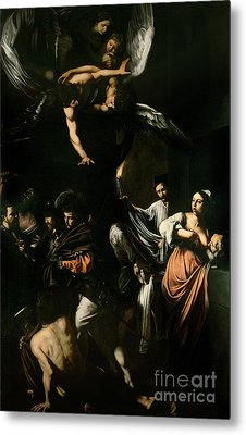 The Seven Works Of Mercy Metal Print by Caravaggio