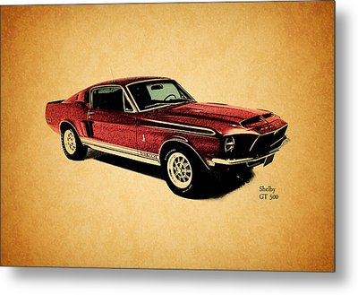 The Shelby Gt500 Metal Print by Mark Rogan