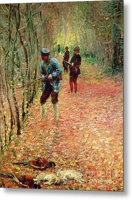 The Shoot Metal Print by Claude Monet