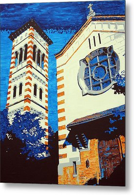 The Shrine Of The Miraculous Medal Metal Print by Sheri Parris