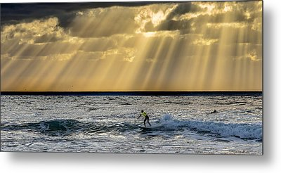 The Silver Surfer Metal Print by Peter Tellone