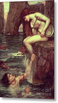 The Siren Metal Print by John William Waterhouse