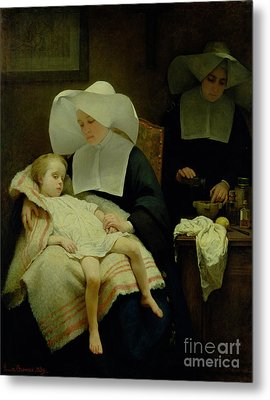 The Sisters Of Mercy Metal Print by Henriette Browne