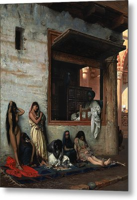 The Slave Market Metal Print by Jean Leon Gerome
