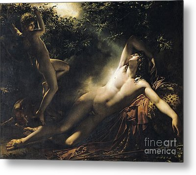 The Sleep Of Endymion Metal Print by Anne Louis Girodet de RoucyTrioson