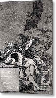 The Sleep Of Reason Produces Monsters Metal Print by Goya