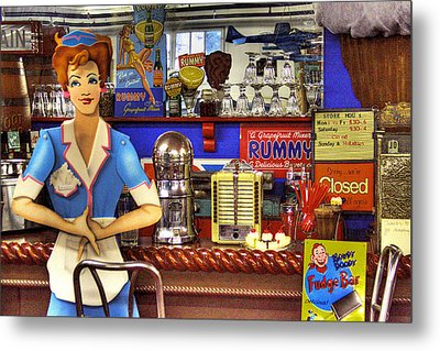 The Soda Fountain Metal Print by David Patterson