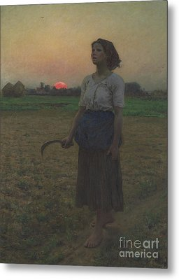 The Song Of The Lark Metal Print by Jules Breton