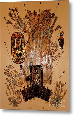 The Spirit Of Survival Metal Print by Angela L Walker