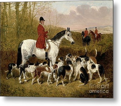 The Start  Metal Print by John Frederick Herring Snr