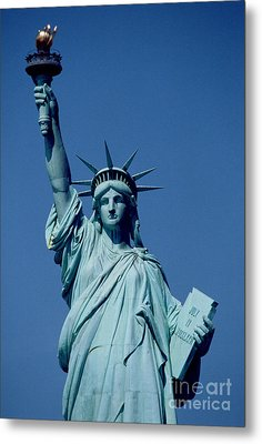 The Statue Of Liberty Metal Print by American School