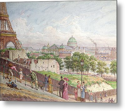 The Steps At The Rue Alboni Metal Print by Arnaud Durbec