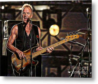 Sting Collection Metal Print by Marvin Blaine