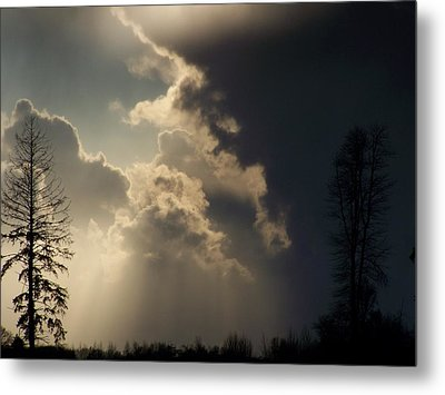 The Storm Looms II Metal Print by Laurie Kidd