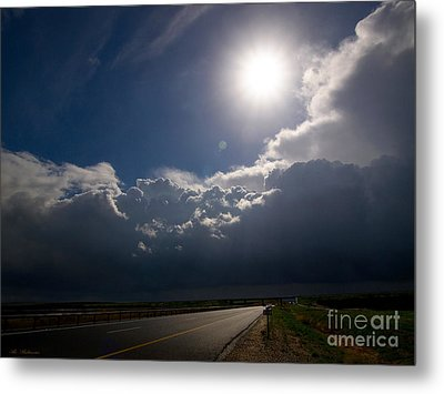 The Straight Way To The Storm Metal Print by Arik Baltinester