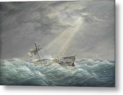 The Sun Breaking Through The Clouds After The Storm Metal Print by William Joy