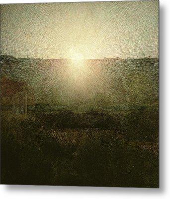 The Sun Metal Print by Giuseppe Pellizza da Volpedo