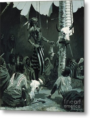 The Sundance Metal Print by Frederic Remington