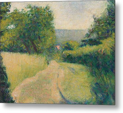 The Sunken Lane Metal Print by Georges Pierre Seurat