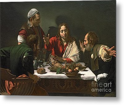 The Supper At Emmaus Metal Print by Caravaggio
