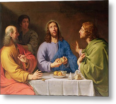 The Supper At Emmaus Metal Print by Philippe de Champaigne