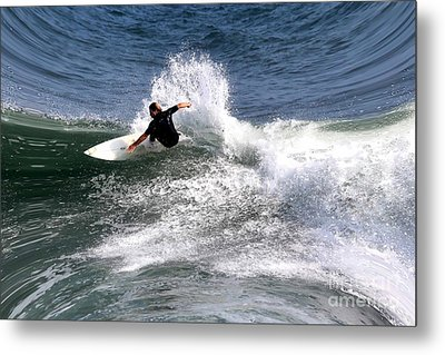 The Surfer Metal Print by Tom Prendergast