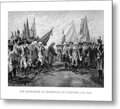The Surrender Of Cornwallis At Yorktown Metal Print by War Is Hell Store