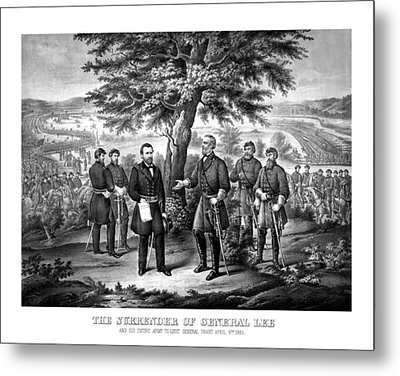 The Surrender Of General Lee  Metal Print by War Is Hell Store