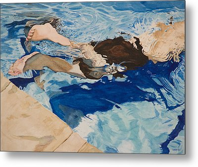 The Swimmer Metal Print by Christopher Reid